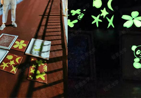 钜亮光学涂料夜光粉案例:手绘夜光地砖