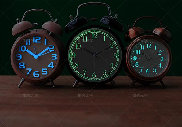 钜亮光学长效高亮夜光粉应用案例:夜光时钟